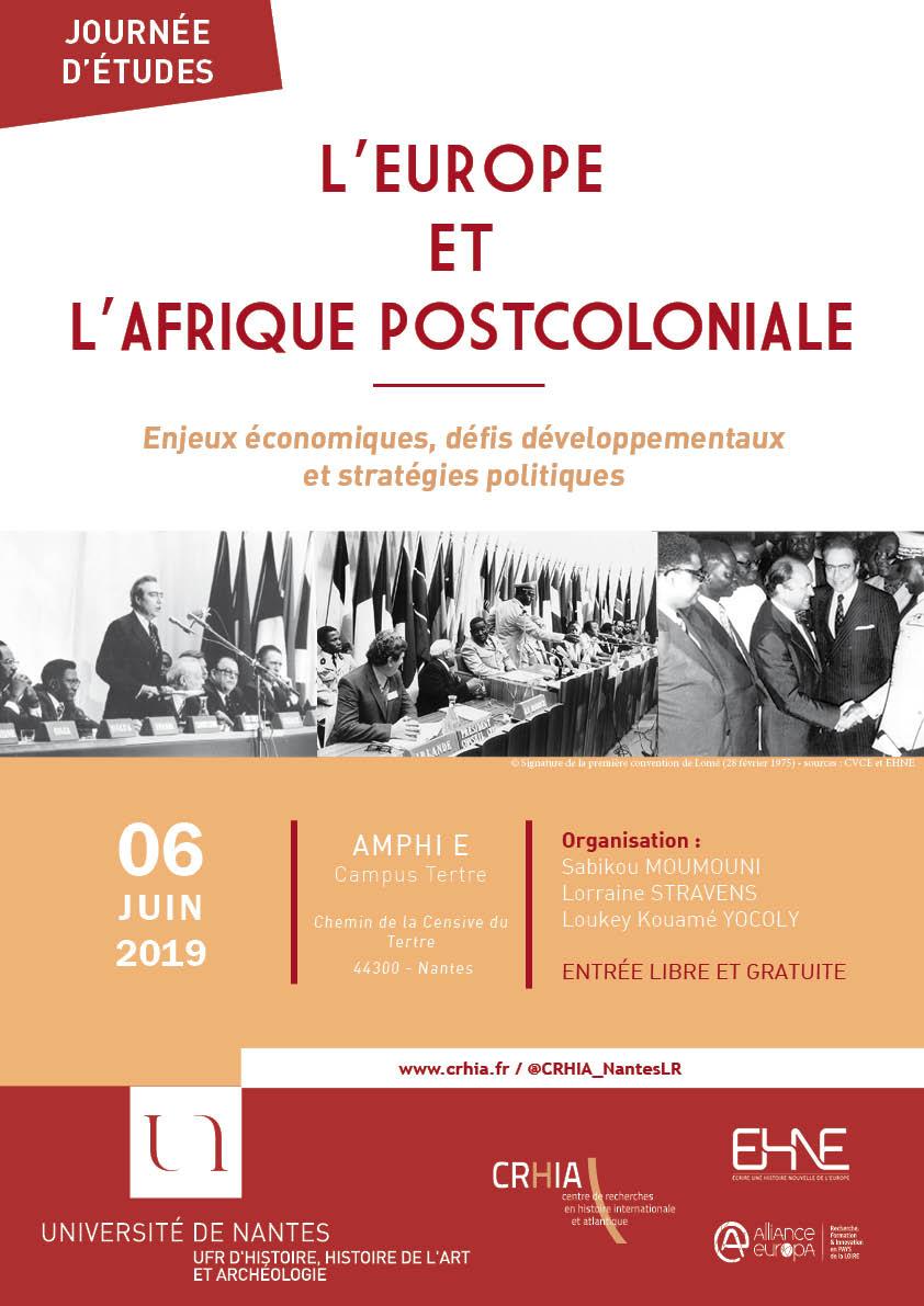 Affiche EUROPE - AFRIQUE 2019