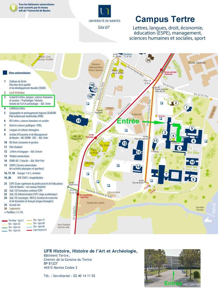 Plan campus Tertre